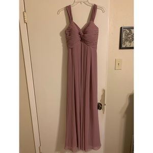 Kaitlynn Azazie bridesmaid dress in vintage mauve